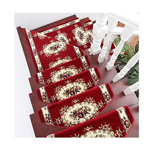 Alfombrilla de escalera adhesivo antideslizante autoadhesivo sin adhesivo Pegatinas de escalera europeas adhesivos de peldaño alfombra de madera maciza for el hogar alfombra de escalera de caracol de