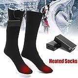 ZooArts Calcetines de bota calefactables a pilas (1 par), negro, Medium
