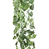 Artificial Fake Faux Scindapsus Leaf Vine Plant Garland