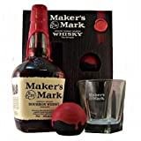Makers Mark Bourbon Whisky with Glass and Ice Ball Gift Pack 70 cl