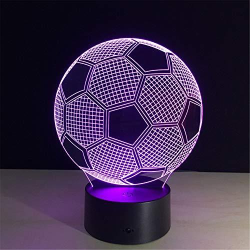 g Lichter Lampen Fußball Kreativ Geschenk Acryl Kind LED Augenschutz Berühren Nachtlicht 3D Innen- Stimmung Dekoration (22 * 15 * 6cm) ()