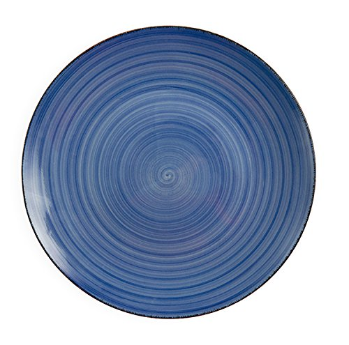 (Villa d 'Este Home Tivoli bi-baita Set 6Speiseteller Obstteller-Set 19.5x19.5x2.5 cm blau)