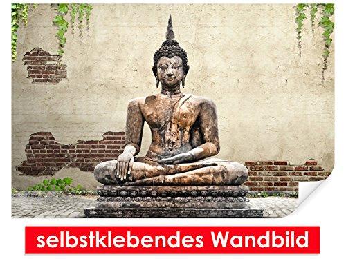 Selbstklebendes–cuadro de Buda Estatua–Fáciles de pegar–Wall Print, Wall Paper, Póster, pantalla con pegamento de puntos de vinilo para paredes, puertas, muebles y superficies lisas de Trend paredes 3