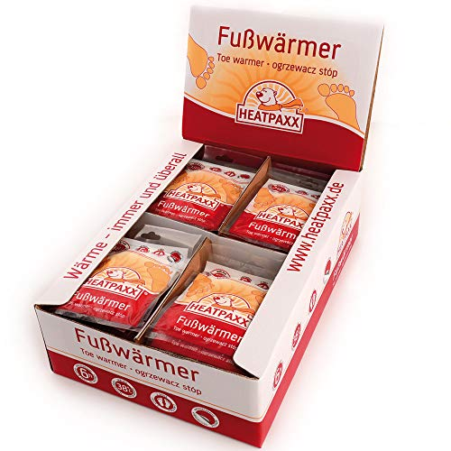 HeatPaxx Fußwärmer Display a 40 Paar Weiß, M