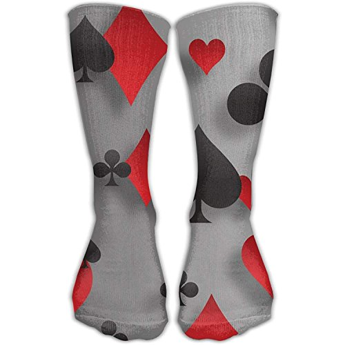 Kailey hello Men Women Poker Playing Cards Riding Premium High Athletic Socks Sports Outdoor (Womens Bamboo Riding Boots)