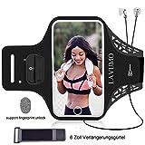 URUN Sportarmband für iPhone X XS Sport Handytasche für Joggen Laufen Gym Fitness Arm Tasche Mit Schlüsselhalter Kabelfach Kartenhalter