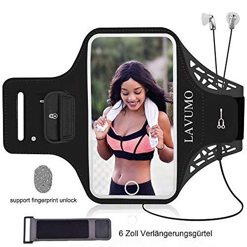 URUN Sportarmband für iPhone X XS Sport Handytasche für Joggen Laufen Gym Fitness Arm Tasche Mit Schlüsselhalter Kabelfach Kartenhalter -