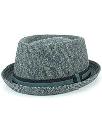 5793853781b6c Hawkins Grey Tweed Porkpie Hat Pork Pie Trilby Fedora