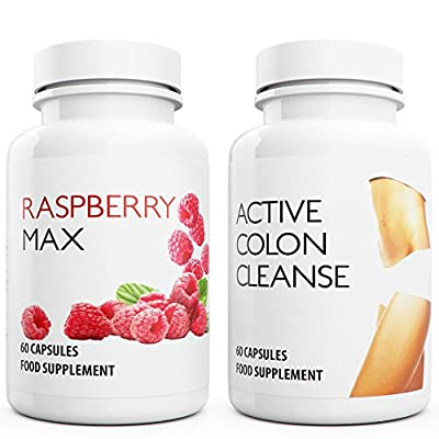 Raspberry Ketones Max & Active Colon Cleanse: Wild Raspberry & Daily Power Cleanse. Max Strength Fat burner with Aloe Vera. Detox & Diet Capsules Suppress appetite, Boost Metabolism increase energy for weight loss. from Natural Answers