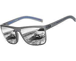 ZENOTTIC Polarized Sunglasses for Men Lightweight TR90 Frame UV400 Protection Square Sun Glasses