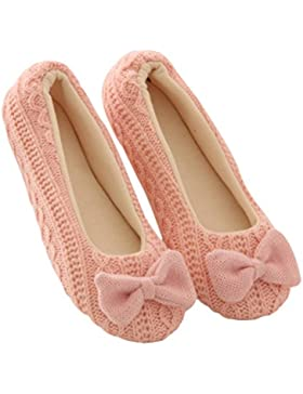Ladies Slippers Yoga Shoes, SOMESUN Donne Pantofole Donna Bowknot Femmina Cachemire Caldo Yoga Scarpe
