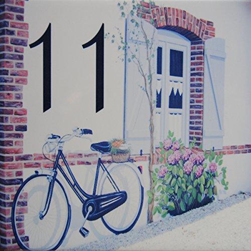 Azul'Decor35 Numéro de Maison personnalisable en faience – Choisissez votre numéroet la taille de votre plaque de rue !