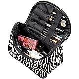 Nikgic Frauen Zebra Streifen Kosmetik Tasche Make-up Fall Lady Handtasche Geldbörse