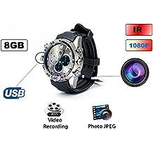 QUMOX HD 1080P IR Nuit Vision 30m Etanche Montre Caméra 8Go