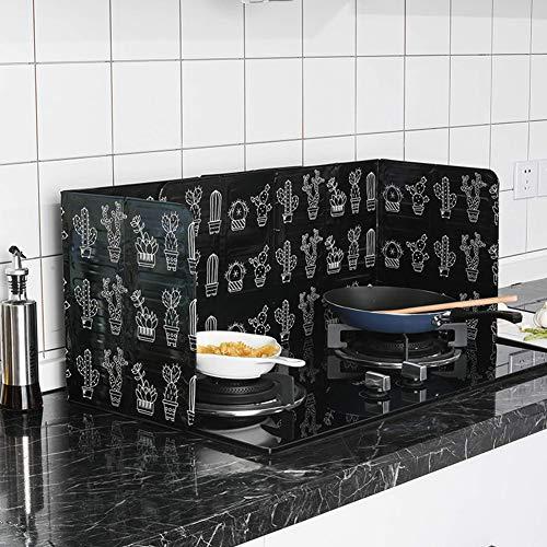 Prosperveil anti Splatter Shield Guard cucina cottura fornello padella olio  paraspruzzi per copertura 84,5 x 3,7 x 0,8 cm Cactus