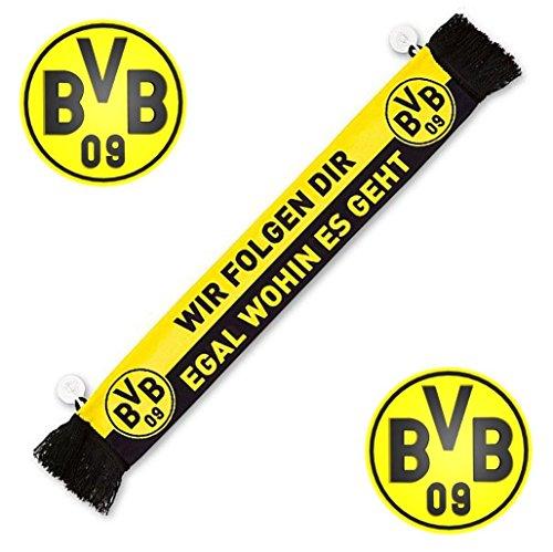 Borussia Dortmund Auto Schal / Car Scarf / Fanschal / Autoschal BVB 09