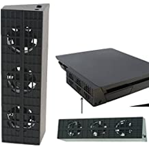 QUMOX PS4 ventilatore sottile eccellente esterno di raffreddamento - turbo cooler nero per Playstation 4