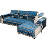 SSDLRSF Sofa-Slipcovers Winter Plüsch Rutschfeste Stoff Kissen Flanell