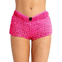 254f6917cd8 Agoky Femme Slip Sexy Transparent Dentelle Culotte Coton Boxer Briefs sous- vêtements à Froufrous Plisée