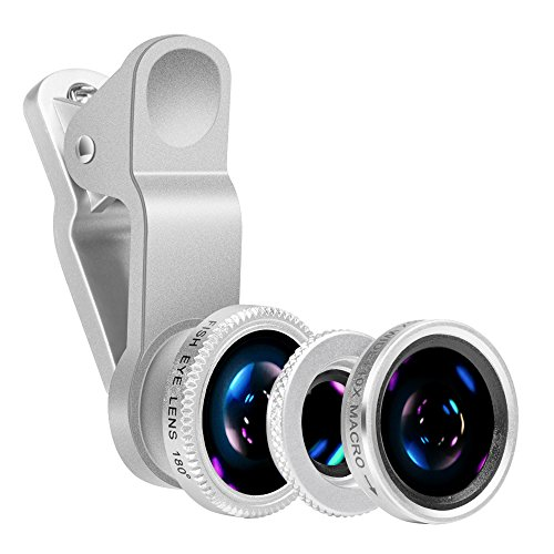 Mobile Phone Camera Lens Kit-Yarrashop iPhone Lens With Fish Eye Lens +Macro Lens + Wide Angle Lens for iPhone ,Samsung, iPad ,Snoy,Huawei and Other Smart Phones