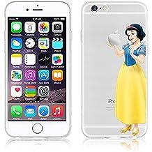 Princesas Disney TPU transparente suave nuevo para Apple iphone 5/5S 5 c, 6/6S 6 + y 6 + S., plástico, SNOW WHITE 3, Apple iPhone 5c