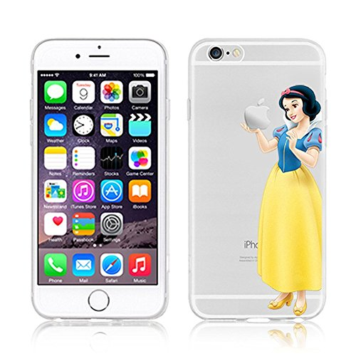 Durchsichtige Hülle für Apple iPhone 5SE mit Disney Prinzessinnenmotiv, plastik, ARIEL, APPLE IPHONE 5SE SNOW WHITE .3