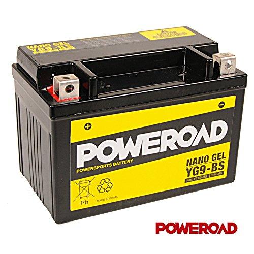 12V Gel Batterie 9Ah - YG9-BS - YTX9-BS - inkl.7,50€ Pfand SU (1-027)