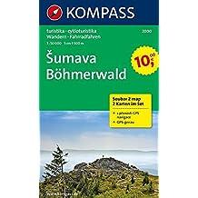 Böhmerwald/Sumava. 1 : 50 000. Wanderkarten-Set mit Naturführer D/CZ in der Nylontasche. Wandern, Rad. GPS-genau