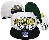 Notre Dame Fighting Irish Two Tone Big Logo Plastic Snapback Adjustable Plastic Snap Back Hat / Cap