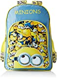 #8: Minion Polyester Blue and Yellow School Bag (MBE-MIN052)