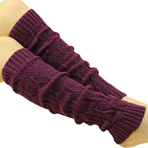 Saingace® Women's Cable Knit Leg Warmers Socks