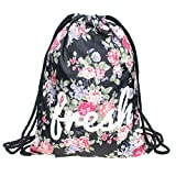 Beutel Fresh Fullprint Turnbeutel All Over Gym Bag Tasche Floral Flower Blumen Blüten Sommer Design Jutebeutel Loomiloo