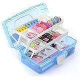 Panzl Multipurpose Plastic Storage Box Travel Stationery Makeup Cosmetic Medicine Organizer With 3 Layer Storage Box - Multi color