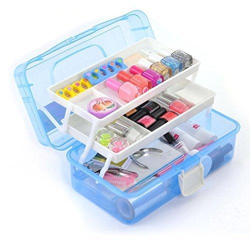 Panzl Multipurpose Plastic Storage Box Travel Stationery Makeup Cosmetic Medicine Organizer With...