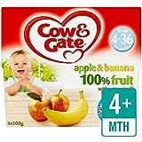 Vache Et Porte La Pomme Et La Banane Fruits Pots 4 X 100G - Paquet de 2
