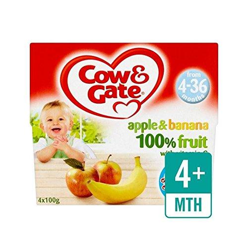 Mucca E Cancello Di Mele E Banane Frutta Pentole 4 X 100G - Confezione da 6