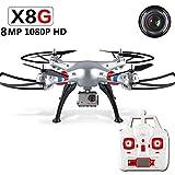 Hanbaili Drone Quadcopter Remote Control X8G con fotocamera da 8 Megapixel 1080P...