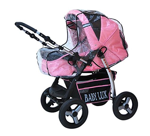 Lux4Kids Magnum Pram & Pushchair (raincover, mosquito net, cup holder, changing pad) 66 Beige & Diamonds  Buggy accessories - Offer all included - 3 free items - More about www.youtube.com/Lux4Kids Solid steel construction, adjustable handlebar height, hood / hood adjustable, buggy converts to pram. Made in EU (DIN EN1888 / 2005) 7