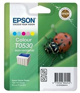 Epson T0530 Cartouche d'encre d'origine Jaune, cyan, magenta, magenta clair, cyan clair