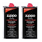 2 TINS OF ZIPPO FLUID 125ML UK DEL ONLY