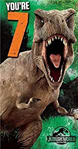 "'Carte d'anniversaire ""Jurassic World, anniversaire 7ans"