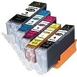 5 Tintenpatronen kompatibel zu Canon PGI-570 CLI-571 XL für Canon Pixma Pixma MG-5750, MG-5751, MG-5752, MG-5753, MG-6850, MG-6851, MG-6852, MG-6853, MG-7750, MG-7751, MG-7752, MG-7753