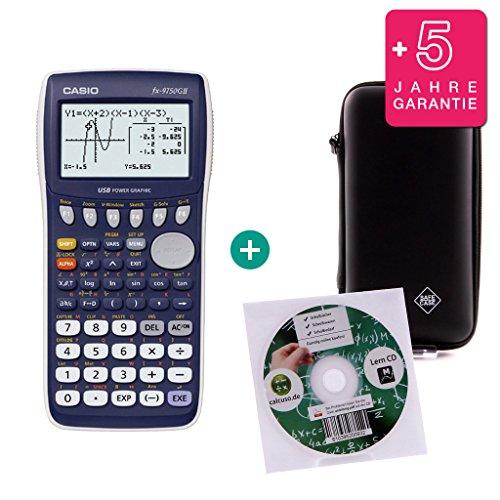 Casio Streberpaket FX 9750 GII + Erweiterte Garantie + Lern-CD (auf Deutsch) + Schutztasche
