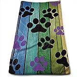 tyui7 Toallas de Mano Plantilla Retro Huellas de Perro Toallas de Secado rápido Altamente absorbentes para Cara de Manos Toalla de Gimnasia y SPA 30x70 cm