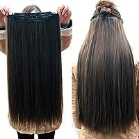 وصلة شعر بشري برازيلي مشبك.