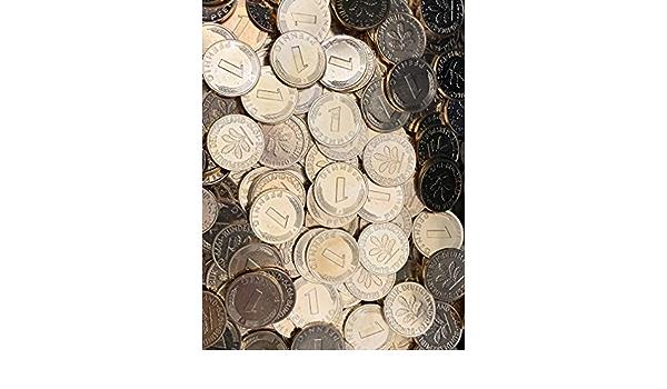 hart vergoldet aus dem Jahr 1991 Generisch Echte 1-Pfennig M/ünze aus D-Mark Zeit