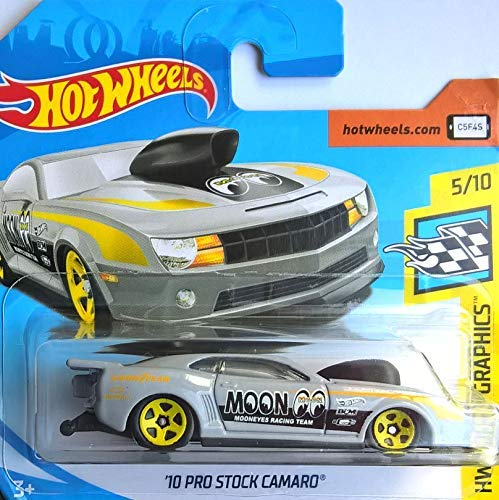 Hot~Wheels '10 Pro Stock Camaro - 1:64 - hellgrau (Camaro-modell 81)