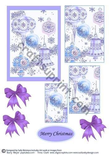 Boules de Noël en violet par Sally McIntyre