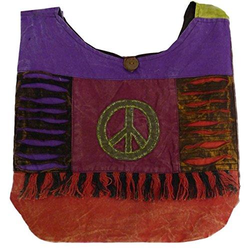 Patchwork Borsa Da Donna Borsa marsupio Borsa a tracolla borsa a tracolla Hippie Shopper ricamato - Arricciatura, , Einheitsgröße Pace