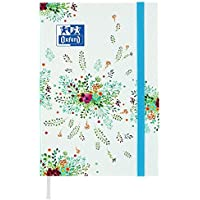 Oxford Flowers Agenda Scolaire Journalier 2018-2019 1 jour par page 352 pages 12 x 18 cm Bleu
